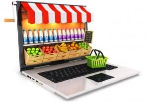 3d supermarket laptop